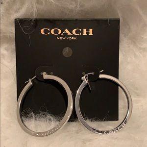 Coach Hoop Earrings NWT